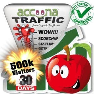 accoona search traffic visitors 30days 500k