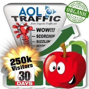 buy 250k aol organic traffic visitors for 30days