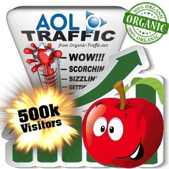 aol organic traffic visitors