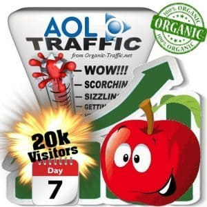 aol organic traffic visitors 7days 20k