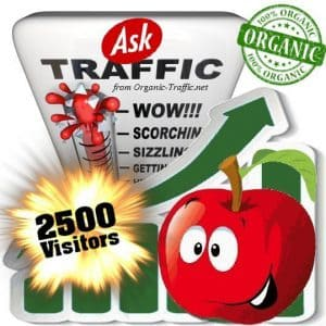 2500 ask organic traffic visitors