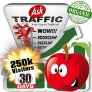 buy 250k ask organic traffic visitors 30days