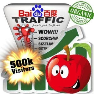 baidu organic traffic visitors