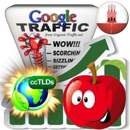 buy google gibraltar organic traffic visitors