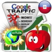 buy google haiti organic traffic visitors