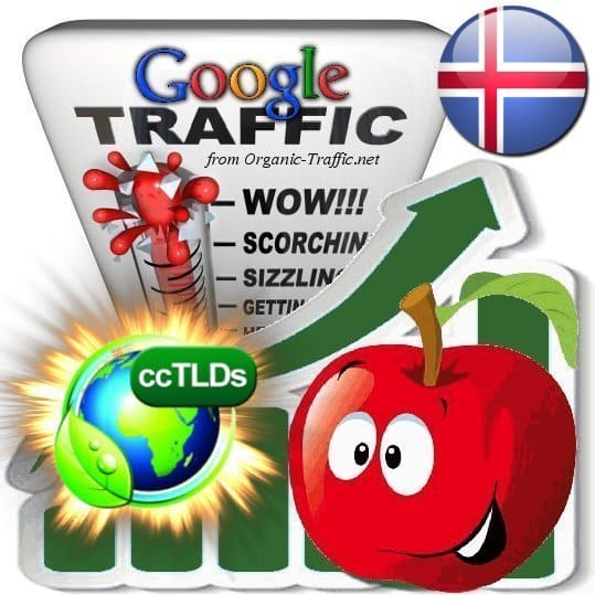 buy google iceland organic traffic visitors