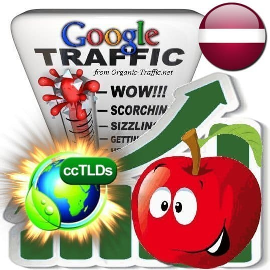 buy google latvia organic traffic visitors