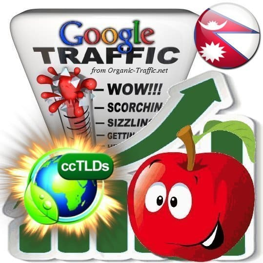 buy google nepal organic traffic visitors