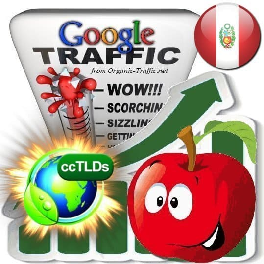 buy google peru organic traffic visitors