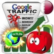buy google qatar organic traffic visitors