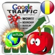 buy google romania organic traffic visitors