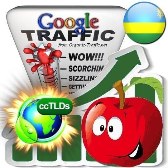 buy google rwanda organic traffic visitors