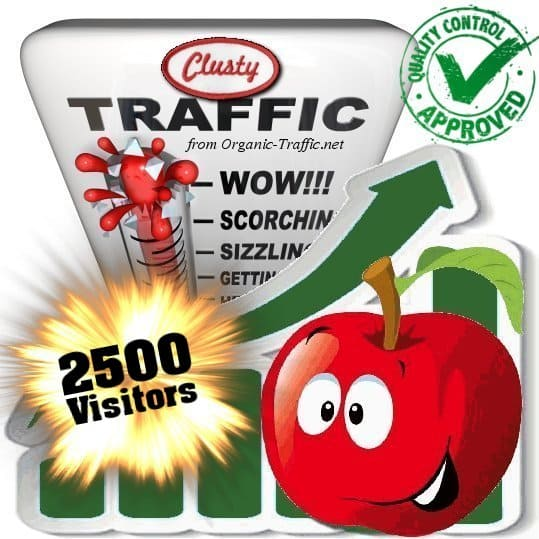 clusty search traffic visitors 2500