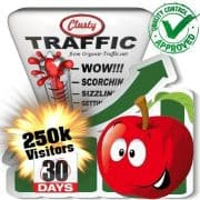 clusty search traffic visitors 30days 250k