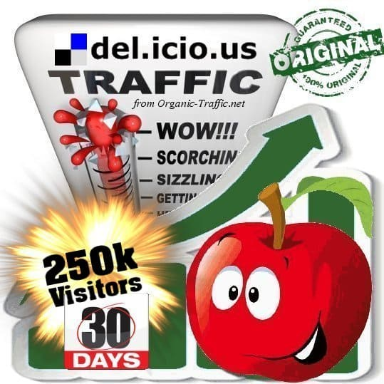buy 250.000 delicious social traffic visitors in 30 days