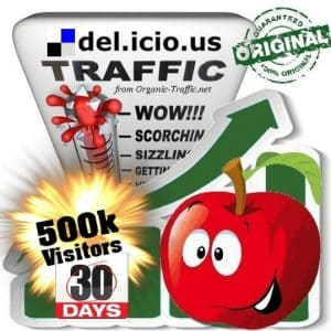 buy 500.000 delicious social traffic visitors in 30 days
