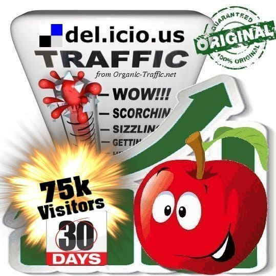 buy 75.000 delicious social traffic visitors in 30 days