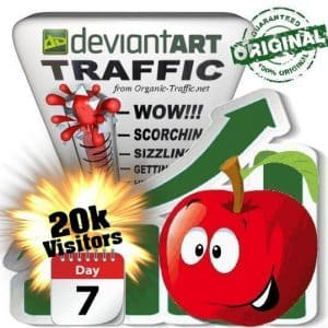 buy 20.000 deviantart social traffic visitors in 7 days