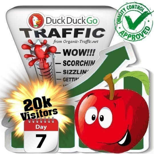 duckduckgo search traffic visitors 7days 20k