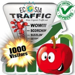 buy 1000 ecosia search traffic visitors