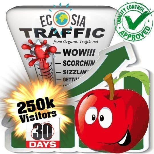 buy ecosia search traffic visitors 30days 250k