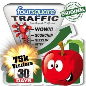 buy 75.000 foursquare social traffic visitors 30 days