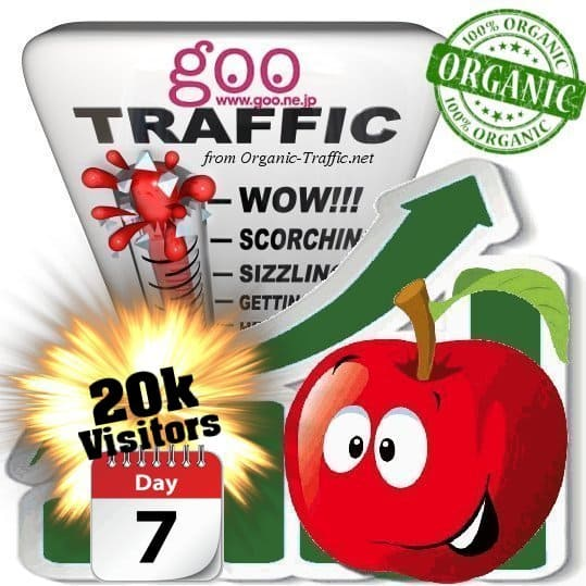 goo organic traffic visitors 7days 20k
