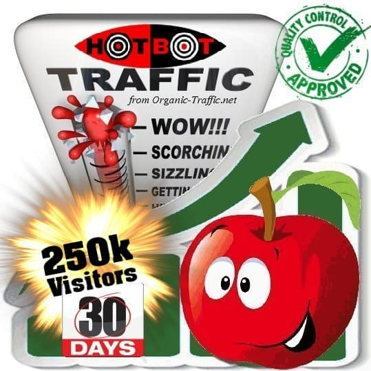 hotbot search traffic visitors 30days 250k