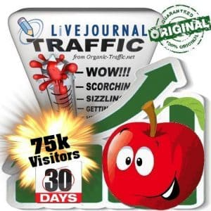 buy 75k livejournal social traffic visitors in 30 days