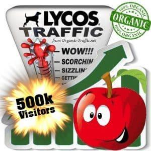 lycos organic traffic visitors