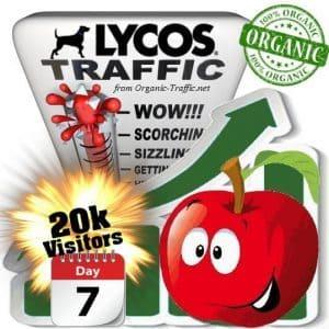 lycos organic traffic visitors 7days 20k