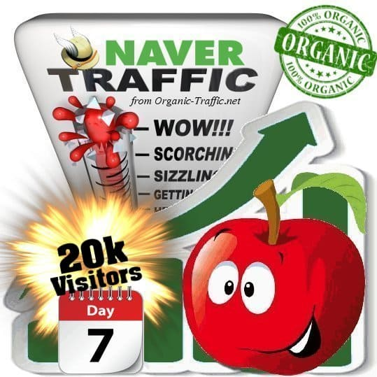 naver organic traffic visitors 7days 20k