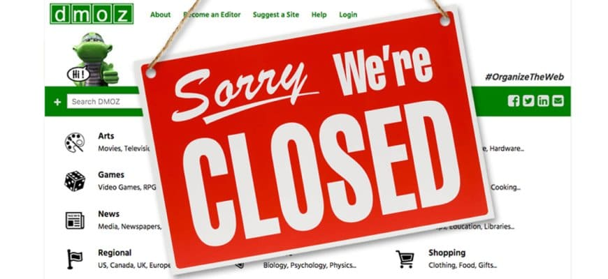 odp / dmoz closed