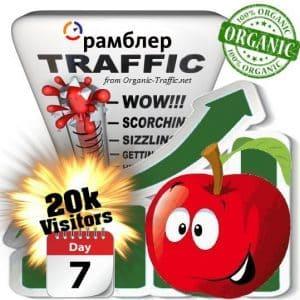 rambler organic traffic visitors 7days 20k