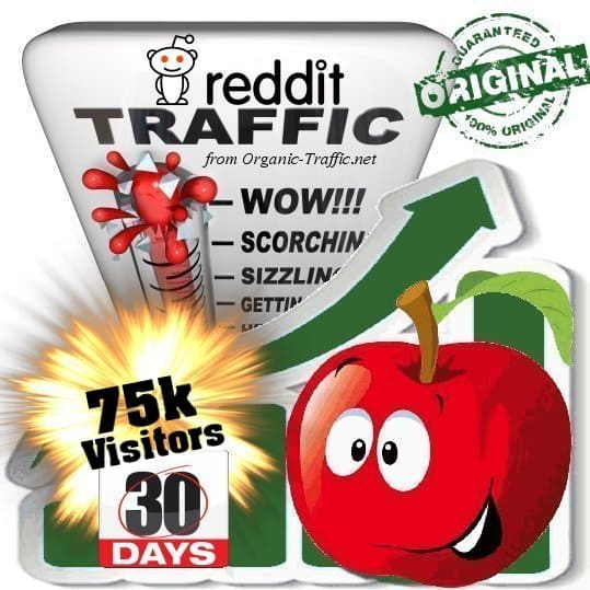 buy 75k reddit social traffic visitors 30 days