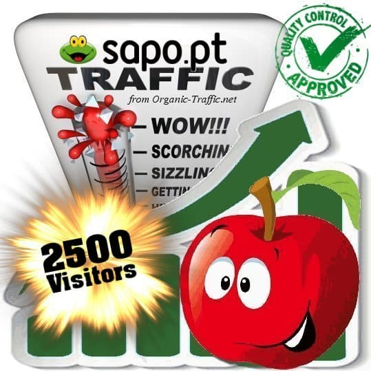 buy 2500 sapo.pt search traffic visitors