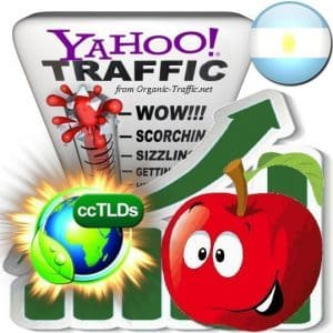 buy yahoo argentina organic traffic visitors