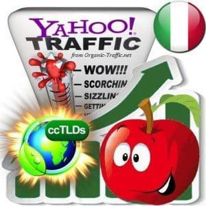 yahoo italy organic traffic visitors