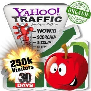 buy 250k yahoo organic traffic visitors 30days