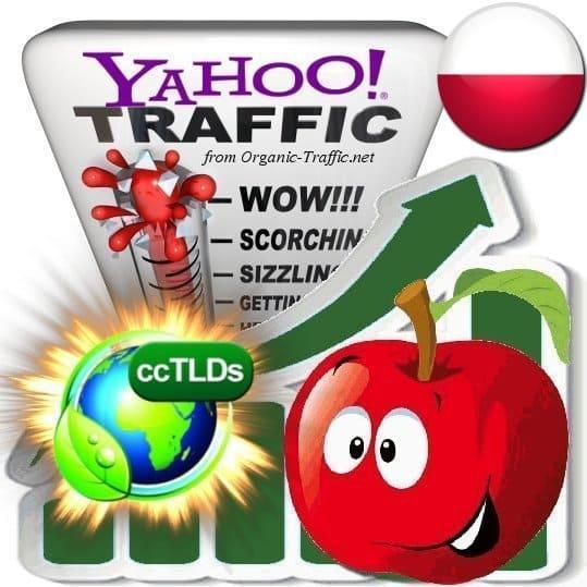 buy yahoo poland organic traffic visitors