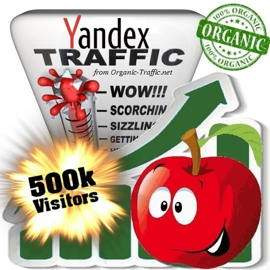 yandex organic traffic visitors