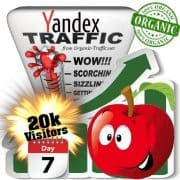 yandex organic traffic visitors 7days 20k