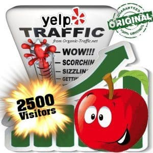 buy 2500 yelp social traffic visitors