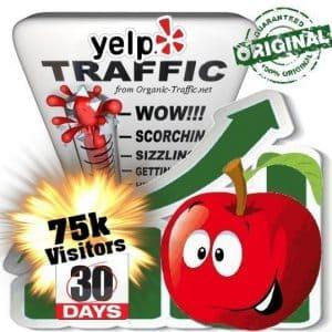 buy 75k yelp social traffic visitors in 30 days